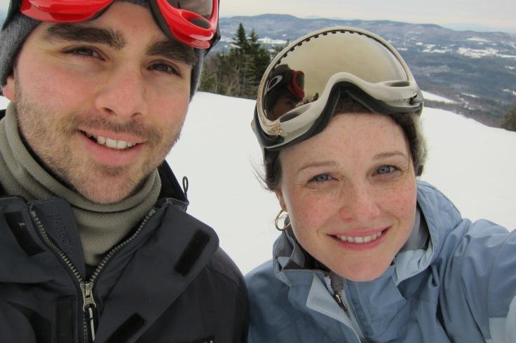 Skiing at Sugarbush VT.